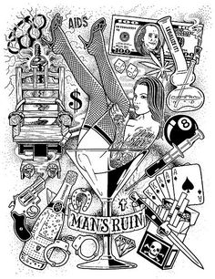 Man's Ruin Poster- Mike Giant | Mike Giant's illustration...… | Flickr