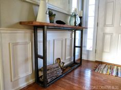 DIY Console Table - Pottery Barn Knock Off - East Coast Creative
