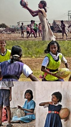 Women's rugby in India. submitted: My friend, the talented Robin M traveled to India 2 years ago to photo-document the rise of women's rugby. At one point she spent 2 weeks with 800 youth learning the sport. These are 4 of the pictures she captured. Rugby Workout, Rugby Drills, Rugby Quotes, Rugby Poster, Womens Rugby, Australian Football, Sport Of Kings, Who Plays It, Girls World