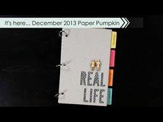 Paper Pumpkin Kit for December 2013 from Stampin' Up! Pumpkin Crafts, Pumpkin Ideas, Wooden People, Types Of Pins, Stampin Up Paper Pumpkin, Life Journal, December 2013, Craft Kits, Craft Videos