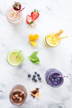 5 High Protein Fruit Smoothies for Weight Loss (5 Ingredients or Less!) | These refreshingly fruity High Protein Smoothies for Weight Loss will keep you satiated while helping you reach your healthy living goals. With 5 scrumptious recipes to choose from, you'll have no problem staying on track! | A Sweet Pea Chef #highproteinfruitsmoothies #proteinsmoothies