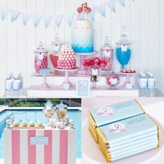A Retro Flamingo Birthday Pool Party For Two from lilsugar.com