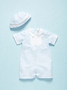 Boys Romper & Hat Set by Emile et Rose on Gilt
