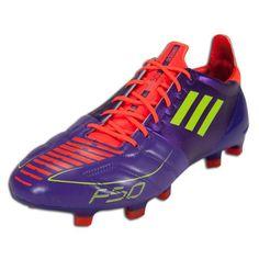 Adidas F50 Adizero TRX Fg Purple/Yellow Leather Soccer Futball Cleats Boots Men