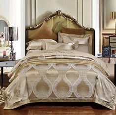 home tips Luxury Bedding set Satin Jacquard Embroidered bedspread bed sheet bed in a bag sheets Camel duvet cover King Queen size 4PCS ** AliExpress Affiliate's buyable pin. Click the VISIT button for detailed description on www.aliexpress.com