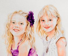 Custom Portraits from Your Photos  Child Portrait  by recircles9, $199.00