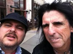 Oh nothing, just Adam Tod Brown hanging out with Alice Cooper.