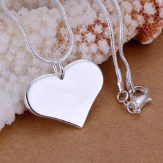 Women Lady Jewelry Pendant,Unique, Heart,silver plated,with 925 logo, 26x19x2mm, Hole:1-3mm, Sold By PC #Affiliate