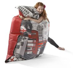 An inexpensive and versatile occasional seating solution or just a fun way to chill out in front of the TV. Childrens Bean Bags, Bean Bag Design, Big Hugs, Fashion Brands, Home Goods, Kids, London, Young Children, Boys