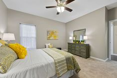 This new construction ranch-style home in Columbia, IL is perfect for young couples or empty-nesters. Home Staging Companies, Young Couples, Ranch Style, New Construction, Empty, Columbia, Bed, Room, Furniture