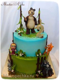 Bear Birthday, Birthday Cake, Bolo Frozen, Masha And The Bear, Bear Party, Bear Cakes, Biscuits, Desserts, Cake Ideas