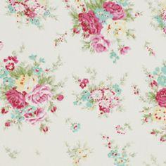 Rosey, Little Rose Bouquet, Ivory  EXKLUSIV von Rosenstoffe Shop auf DaWanda.com