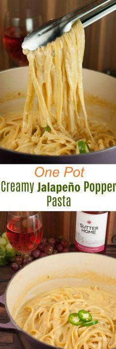 One Pot Creamy Jalapeño Popper Pasta