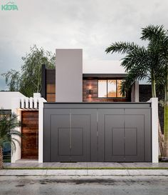 HOUSE on Behance is part of House gate design - House Main Gates Design, Door Gate Design, Garage Door Design, Main Door Design, House Front Design, House Front Gate, House Entrance, Gate Designs Modern, Modern Front Gate Design