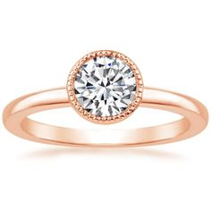 Lab Created Sierra Solitaire Diamond Engagement Ring - 14K Rose Gold