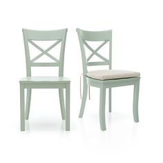 Vintner Mint Side Chair and Cushion - Crate and Barrel - $149 + $29 cushion