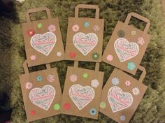 Homemade Personalised Hen Party Bags