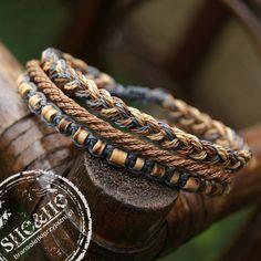 hand made men bracelet, men style , coconut bracelets