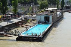 floating pools on river - Google Search