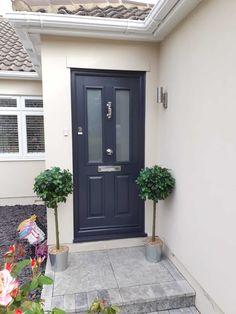 Gallery - The Urban Door Company Front Door Steps, Front Door Porch, Porch Steps, Front Porches, House Front, Home Door Design, House Design, Composite Front Doors, Porch Tile