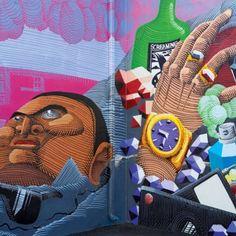 Mural do brasileiro Nunca, em Wynwood, Estados Unidos. #art #arte #artederua #urbanart #streetart #streetartist #arquitetura #instalaçoes #installation #experiencia #arquiteturadavidguerra #nuncaartist #artistanunca #usa