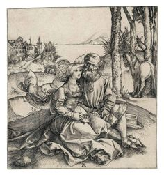 Albrecht Durer (1471-1528) The ill-assorted Couple 1495 (148 x 138 mm)