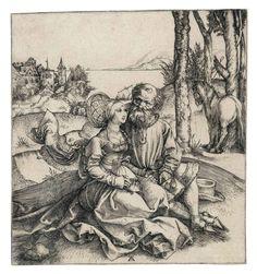 Albrecht Durer (1471-1528) The ill-assorted Couple 1495 (148 x 138 mm)