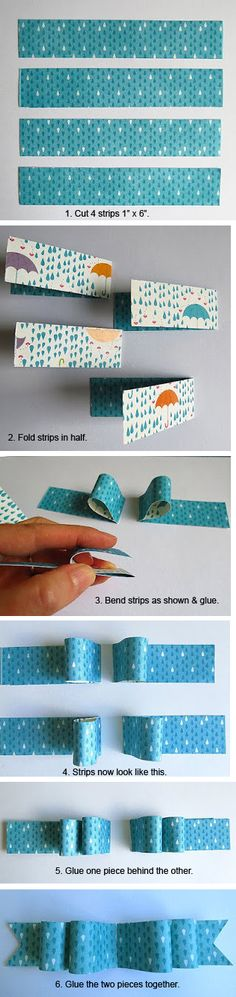 Making a Paper Bow - by Ro Phillipsen