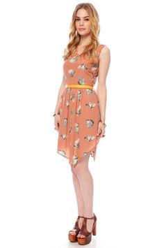 Freesia Tank Dress in Mauve $46 at www.tobi.com