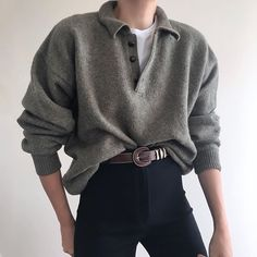 Retro Outfits, Style Outfits, Mode Outfits, Vintage Outfits, Cute Casual Outfits, Polo Sweater, Sweater Outfits, Men Sweater, Stylish Clothes