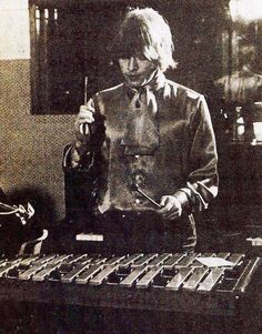 Brian Jones playing xylophone