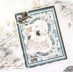 """Absolutely wonderful card, created by Jennifer Snyder - using the lovely papers from """"Celebration"""". <3 #card #cardmaking #cardinspiration #papercraft #papercrafting #papercrafts #scrapbooking #majadesign #majadesignpaper #majapapers #inspiration #vintage #celebration"""