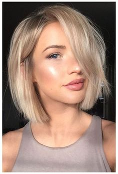 Haircuts For Fine Hair, Short Hairstyles For Women, Hairstyles 2018, Easy Hairstyles, Hairstyle Ideas, Amazing Hairstyles, Bob Haircuts, Short Length Hairstyles, Fine Hair Hairstyles
