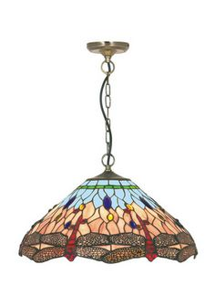 Searchlight Dragonfly Multi-Coloured Ceiling Pendant 1283-16 at LightingLighting