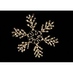 queens of christmas white rope lit snowflake ice finish warm white