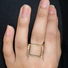 gold hollow-box ring code : R0007 price : Rp.20.000 contact us SMS : +6285774682727 email : fortunatus.accessories@gmail.com line : mutiara.anindita