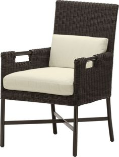 Dining Arm Chair by Thomas Pheasant - Outdoor Chairs, Outdoor Furniture, Outdoor Decor, Seat Cushions, Pillows, Dining Arm Chair, Cut Out Design, Sea Shells, Armchair