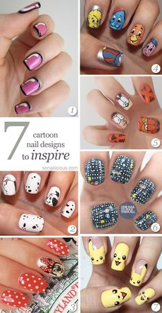 The Best 7 Cartoon Nails Designs #nailart