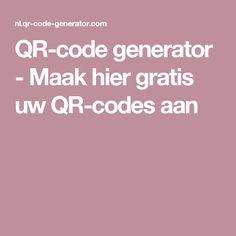 QR-code generator - Maak hier gratis uw QR-codes aan