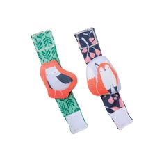 Camp Acorn Owl & Fox Wrist Rattle Set