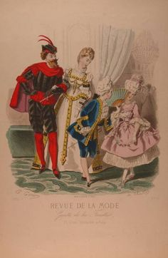 Fancy Dress for the Family, color fashion plate