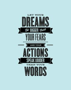 """Inspirational Quote Print """"Let Your Dreams Be Bigger Than Your Fears"""" Letterpress-Style Typography Print Wall Decor - PRINTABLE DOWNLOAD"""