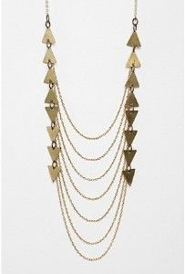 geometric station necklace