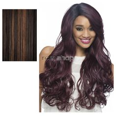 """Vivica Fox Swiss Lace Front Snow 28"""" - Color FS4/30 - Synthetic (Curling Iron Safe) Swiss Lace Front Wig"""