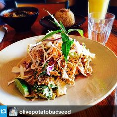 Kelp Pad Thai. Instagram photo by @olivepotatobadseed  Also tried this today at Yong Green Food, amazing, go and try their food
