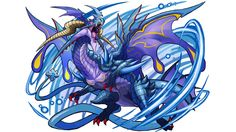 Buy Puzzle & Dragons Z + Puzzle & Dragons: Super Mario Bros. Edition from the Nintendo Official UK Store. Dragon Super, Ice Dragon, Creature Concept Art, Creature Design, Easy Lego Creations, Character Concept, Character Art, Puzzles And Dragons, Cool Dragons