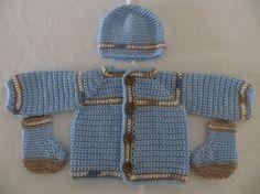 baby boy sweater baby boy sweater set crochet baby boy by KEL2D2, $35.00