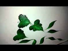 Simple way to paint petals and leaves - YouTube