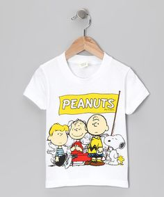 Take a look at this Freeze White 'Peanuts' Group Tee - Toddler by Cartoon Favorites: Kids' Apparel on #zulily today!