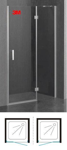 Drzwi prysznicowe szklane, uchylne 110 cm chrom/ transparentne Omnires Manhattan ADP11X LUX